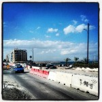 Part of Larnaca under construction