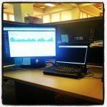 New desk in new the office